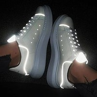 Alexander McQueen Classic Casual Sports Running Shoes Sneakers White Luminous-2