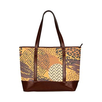 Tote Bags, Brown Autumn Style Large Tote Bag
