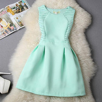 Women Dress Party Evening Elegant A-Line Mini Sundress