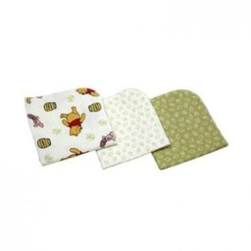 Disney Baby Winnie The Pooh Sunshine Patch 3 Pack Flannel Receiving Blankets