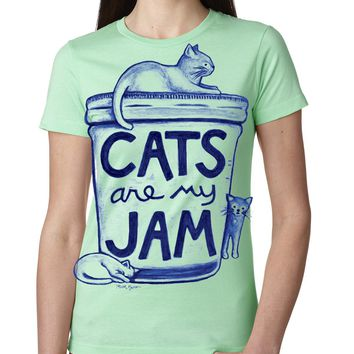 Cats are my Jam Womens T shirt