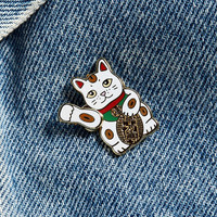Pintrill Lucky Cat Pin - Urban Outfitters