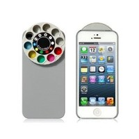 Wisedeal Special Effect Filters Wheel & Protective Case for iPhone 5 (Gray)