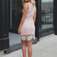 Pretty Little Thing Dress - Peach