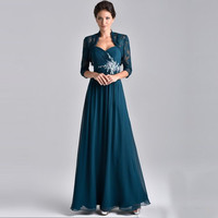 2016 New Chiffon Plus Size Appliques Beads Mother Of The Bride/groom Dresses For Wedding Formal Long Party Gowns Free Jackets