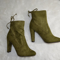 Chelsea Olive Booties (Clearance)