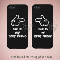 She's My Best Friend Matching Phone Cases for iphone 4 4S 5 5C Galaxy S3 S4 - Friendship Gift