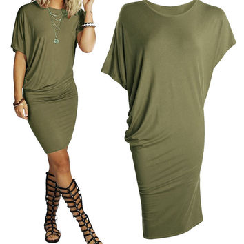 Women's Summer Style Casual Clothing Sexy Vintage Clubwear Evening Party Bandage Bodycon Dress