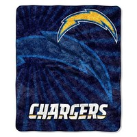 San Diego Chargers NFL Sherpa Throw (Strobe Series) (50in x 60in)