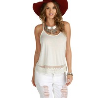 Promo-the Shore Thang White Crochet Top