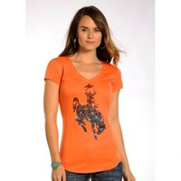 Bronco With Rhinestones Tee - Women's
