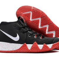 Nike Kyrie Irving 4 IV Black/White/RED Sport Shoes US7-12