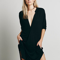 Asymmetric Long Shirt Dress