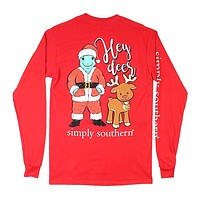 Santa Turtle Tee in Red by Simply Southern