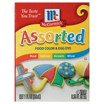 McCormick 4ct Assorted Food Color and Egg Dye 1.2oz : Target