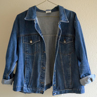 Denim Blue Jean Jacket Vintage Oversized 90s XL