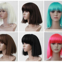 2012 Fashion Girl's Short Straight Wig Fluffy Non-Mainstream Party Hair Wig