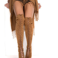 Thigh High Lace Up Boot, NLY Shoes