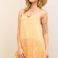 Strappy Detail Tiered Sundress