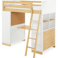 Room & Board - Moda Loft Bed with Middle Desk and Two Four-Drawer Dressers