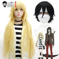 HSIU NEW High quality Rachel Gardner Ray Isaac Foster Zack Cosplay Wig Angels of Death Costume Play Wigs Halloween Costumes Hair