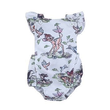 born Baby Romper Boy Girl Summer Deer Jumpsuit Outfits Baby Clothing