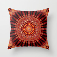 Mandala body-awareness Throw Pillow by Christine baessler