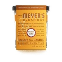 Mrs. Meyer's Soy Candle - Orange Clove - Small Glass - 4.9 oz