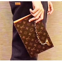 LV Louis Vuitton Popular Women Shopping Leather Metal Chain Handbag Bag Satchel