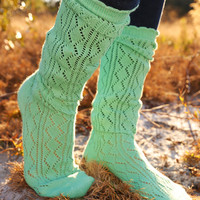 Gotta Stay Warm Socks: Mint - One