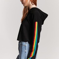 French Terry Stripe Hooded Top