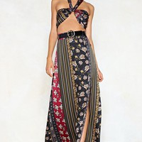 Get Your Mix Printed Bralette and Skirt Set