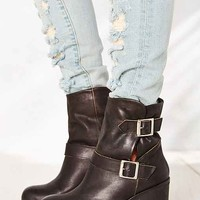 Jeffrey Campbell Double Buckle Boot- Black