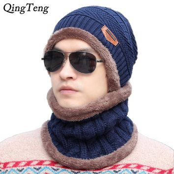 2018 Brand Beanies Knit Men'S Winter Caps Skullies Beanies Bonnet Knitted Ring Scarf & Hat For Man Women Beanie Wool Knitted Hat