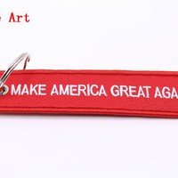 Make America Great Again Keychain MAGA Luggage Tag Donald Trump Keychain