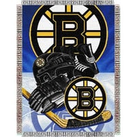Boston Bruins NHL Woven Tapestry Throw (Home Ice Advantage) (48x60)