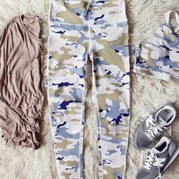 Sporty Gym Leggings in Camo