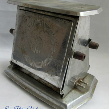 Manning Bowman Vintage Retro Art Deco Chrome Plated Electric Flip Kitchen Toaster