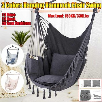 Fashionable Set of Multicolor Hammock Hanging Chair
