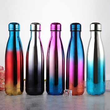 Creative Gifts Gradient Car Coke Bottle Vacuum Stainless Steel Bottle Birthday Fashion Water Cup