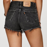 Saltwater Gypsy Vintage Black Denim Cutoff Shorts at PacSun.com