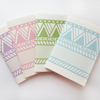 Lines and Triangle Pastel Colored Notebooks Set of 4 - featured items at Refinery29