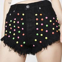 Sour Look Studded Shorts