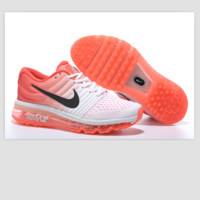 NIKE Women Men Running Sport Casual Shoes Sneakers Orange&White