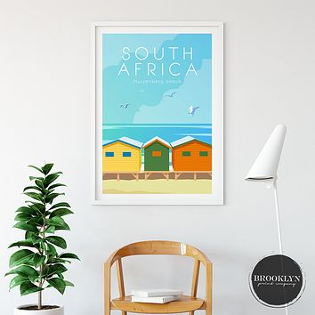 South Africa Skyline City Art Travel Poster
