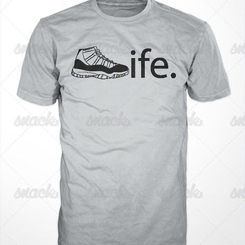 Sneaker Life T-Shirt - Air jordans, Concords, BREDS, sneaker addict, legend blue, space jams, playoffs, infared 6, defining moment pack