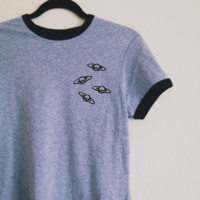 Willa Four Planets Ringer Tee