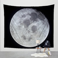 Moon Wall Tapestry Space Fabric Art Print Wall Hanging - Astronomy. Lunar