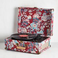 Music Check Your Vinyl Signs Turntable in Crimson by ModCloth
