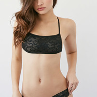 Lace-Paneled Cheeky Bikini